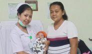 Mahasiswa DIII Kebidanan STIKES Advaita Medika Tabanan Lakukan Ujian Praktik Pijat Ibu Nifas di BRSU Tabanan